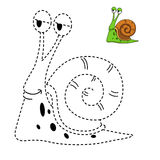 Illustrazione del gioco educativo per i bambini ed il libro-snai di coloritura Fotografie Stock