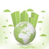 Illustrazione del globo dei soldi Fotografia Stock