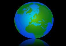 Illustrazione del globo della terra, mondo dentro Fotografia Stock