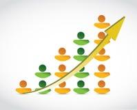 Illustrazione del grafico commerciale di successo della gente Immagine Stock