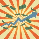 Illustrazione del grafico dei soldi Fotografia Stock Libera da Diritti