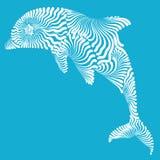 Illustrazione del grafico del delfino Immagini Stock Libere da Diritti