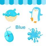 Illustrazione del gruppo blu isolato di colore royalty illustrazione gratis