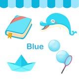 Illustrazione del gruppo del blu di colore illustrazione di stock