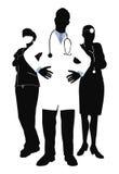 Illustrazione del gruppo di medici Fotografia Stock Libera da Diritti