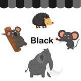 Illustrazione del gruppo nero isolato di colore illustrazione vettoriale