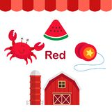 Illustrazione del gruppo rosso isolato di colore illustrazione di stock