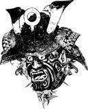 Illustrazione del guerriero del samurai Fotografia Stock