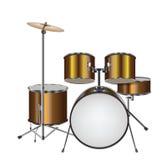 Illustrazione del kit del tamburo Fotografie Stock Libere da Diritti