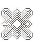 Illustrazione del labirinto in bianco e nero Fotografia Stock Libera da Diritti
