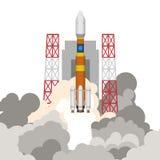 Illustrazione del lancio del razzo Fotografia Stock