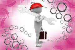 illustrazione del lavoratore dell'uomo 3d Immagine Stock