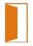 Illustrazione del legno aperta del portello Fotografie Stock Libere da Diritti