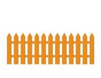 Illustrazione del legno della rete fissa di picchetto Immagine Stock