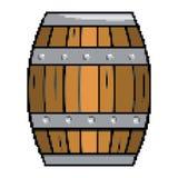 Illustrazione del legno isolata di vettore di progettazione del barilotto illustrazione di stock