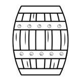 Illustrazione del legno isolata di vettore di progettazione del barilotto royalty illustrazione gratis