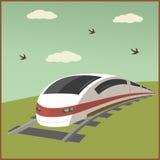 Illustrazione del manifesto del treno Fotografia Stock Libera da Diritti