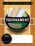 Illustrazione del manifesto di torneo di pallavolo Immagini Stock