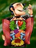 Illustrazione del maschio del partito illustrazione di stock