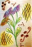 Illustrazione del mazzo del fiore Immagine Stock