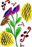 Illustrazione del mazzo del fiore Fotografia Stock Libera da Diritti