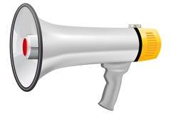 Illustrazione del megafono realistico Immagini Stock