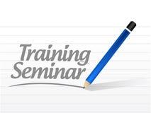 illustrazione del messaggio di seminario di formazione Immagini Stock Libere da Diritti