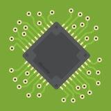 Illustrazione del microchip di vettore Fotografia Stock