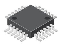Illustrazione del microchip generico del calcolatore royalty illustrazione gratis