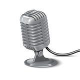 Illustrazione del microfono d'annata Fotografie Stock