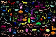 Illustrazione del modello dei gatti Fotografie Stock Libere da Diritti