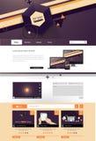 Illustrazione del modello del sito Web con gli elementi astratti Fotografie Stock