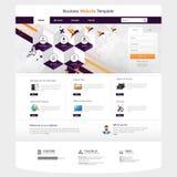 Illustrazione del modello del sito Web con gli elementi astratti Immagini Stock Libere da Diritti
