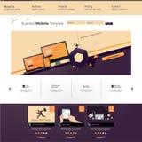 Illustrazione del modello del sito Web con gli elementi astratti Fotografia Stock