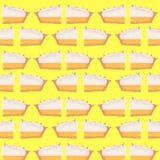 Illustrazione del modello della meringa del limone Fotografia Stock