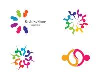 Illustrazione del modello di logo della Comunit? royalty illustrazione gratis