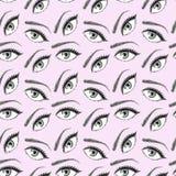 Illustrazione del modello di occhi illustrazione di stock