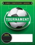 Illustrazione del modello di torneo di calcio di calcio Fotografie Stock