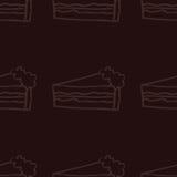 Illustrazione del modello senza cuciture del dolce dolce Fotografie Stock Libere da Diritti