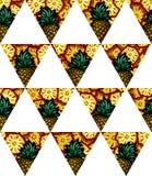 Illustrazione del modello senza cuciture della bandiera geometrica del triangolo dell'ananas Fotografia Stock Libera da Diritti