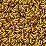 Illustrazione del modello senza cuciture delle banane fresche per la vostra progettazione Fotografia Stock Libera da Diritti
