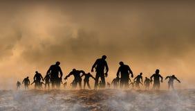 Illustrazione del mondo dello zombie Fotografie Stock Libere da Diritti