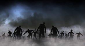 Illustrazione del mondo dello zombie Fotografia Stock