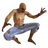 Illustrazione del mostro 3D dello zombie royalty illustrazione gratis