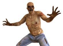 Illustrazione del mostro 3D dello zombie illustrazione vettoriale