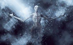 Illustrazione del mostro 3D del demone illustrazione di stock