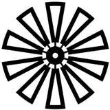 Illustrazione del mulino a vento dai crafteroks illustrazione di stock