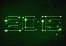 Illustrazione del numero verde 2015 nello stile di costellazione Immagine Stock Libera da Diritti