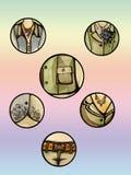 Illustrazione del particolare dei vestiti Fotografia Stock Libera da Diritti
