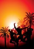 Illustrazione del partito di tramonto. Immagine Stock Libera da Diritti